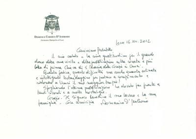 lettera arcivescovo